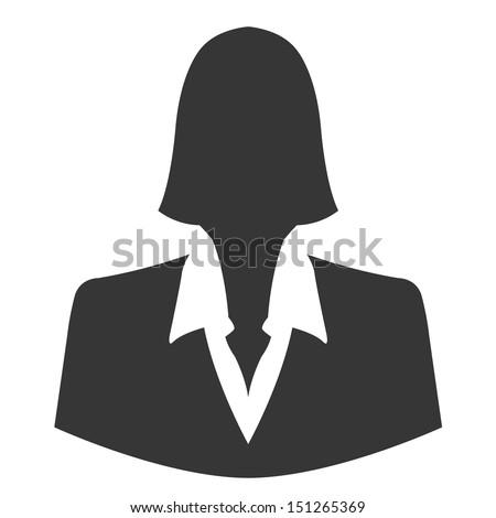 Businesswoman avatar profile picture - vector - stock vector