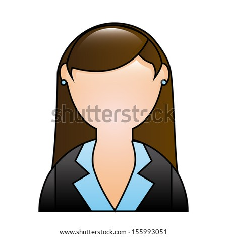 businesswoman over white background vector illustration - stock vector