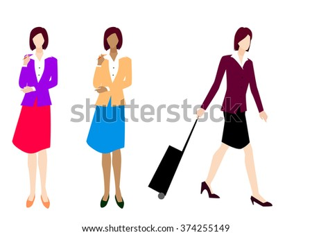 businesswoman - vector illustration