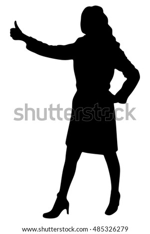 businesswoman with thumb up