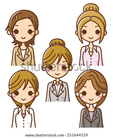 Businesswomen illustration - stock vector
