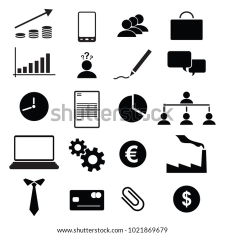 Bussiness symbols over white background