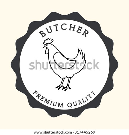 butcher products  design, vector illustration eps10 graphic