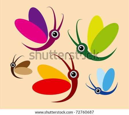 Butterflies - stock vector