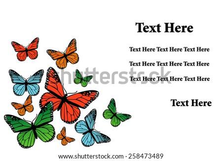 butterflies design  - stock vector