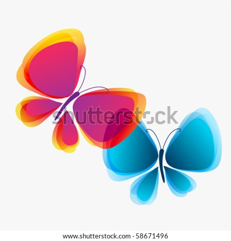 Butterflies in love eps10  vector - stock vector