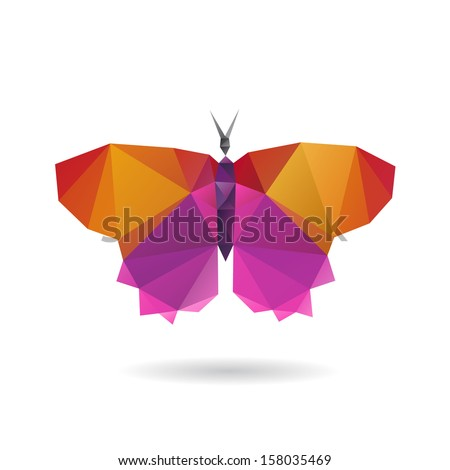 Butterfly abstract  isolated on a white backgrounds, vector illustration - stock vector