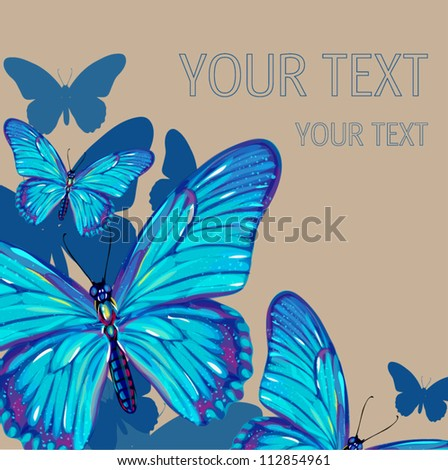butterfly background - stock vector