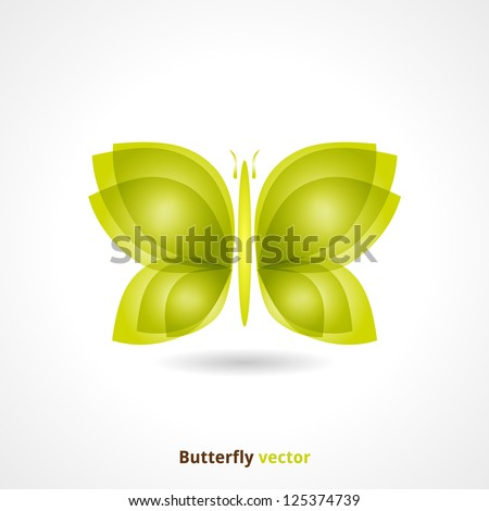 Butterfly Background. Vector Design Wildlife. - stock vector