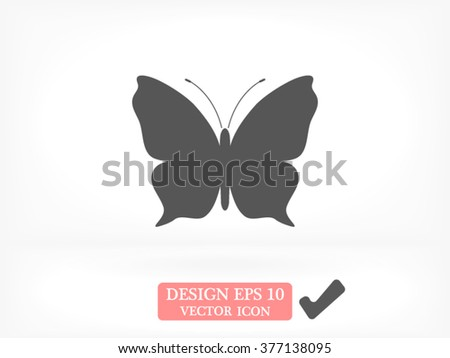 Butterfly icon - stock vector