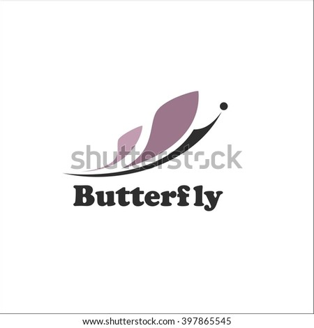 Butterfly logo - stock vector