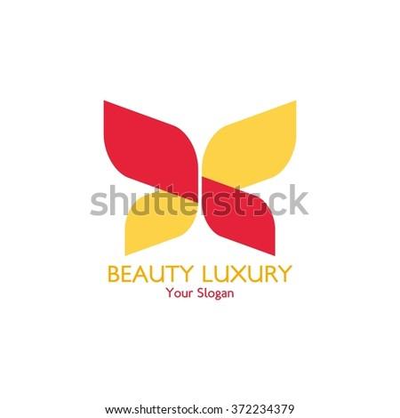 Butterfly logo template. Vector illustration. - stock vector