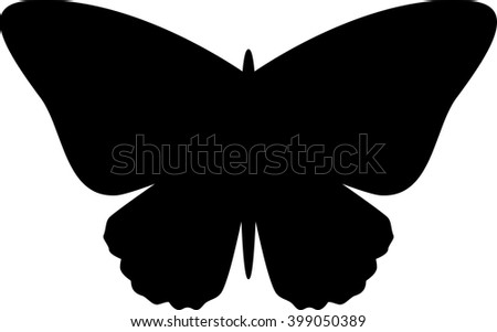 Butterfly silhouette. Vector illustration - stock vector