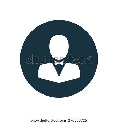 butterfly tie icon circle shape on white background  - stock vector