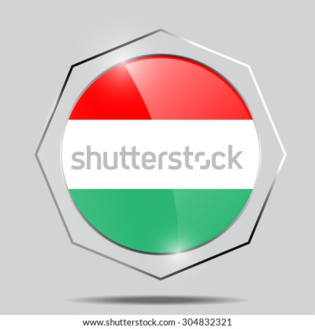 Button Flag of Hungary