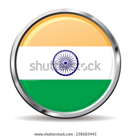 button Flag of India
