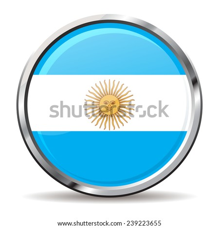 button Flags of argentina