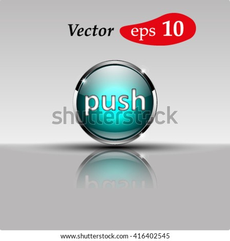 Button for a site. Vector icon.