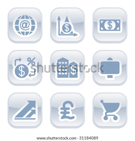 Button for web 23 - stock vector