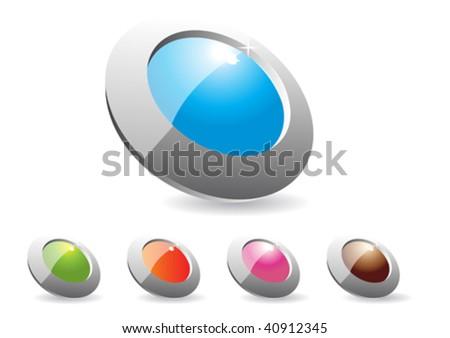 button for web - stock vector