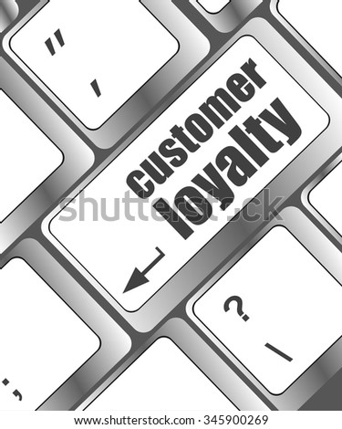 button keypad key with customer loyalty word vector illustration