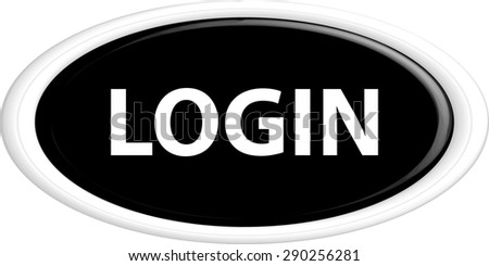 Button login . The round shape. 3D. Vector illustration. - stock vector