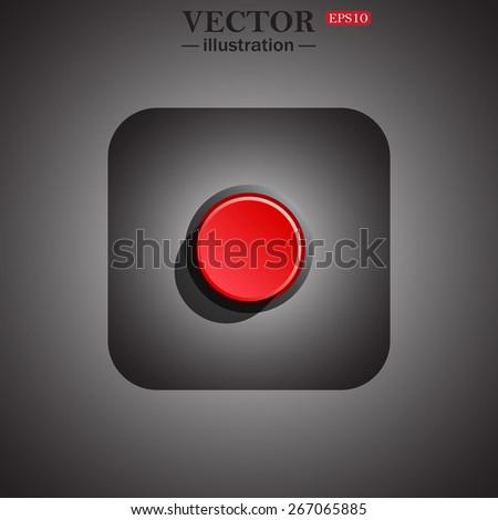 button start, stop, web icon. vector design - stock vector