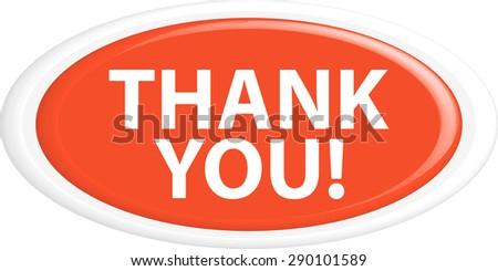 Button THANK YOU - stock vector