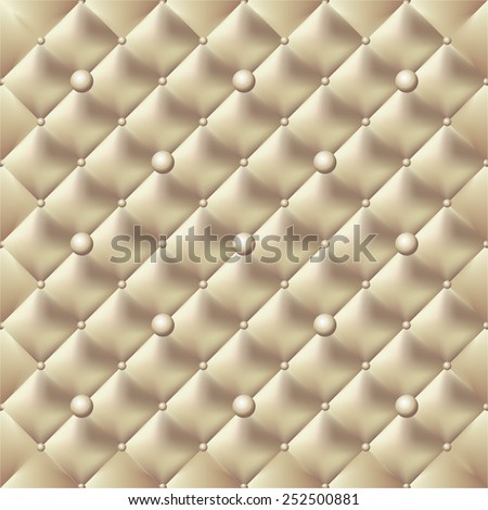 button-tufted leather background. - stock vector