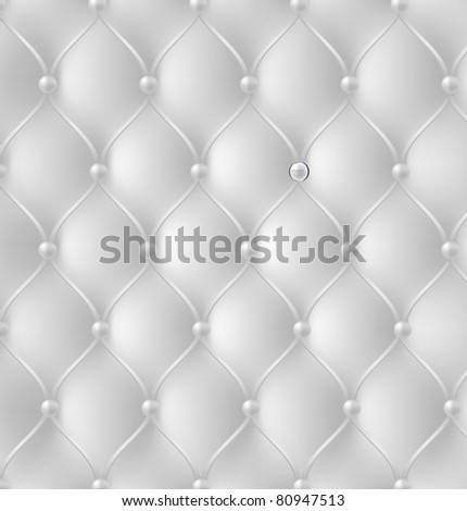 Button-tufted leather background. Vector illustration. - stock vector