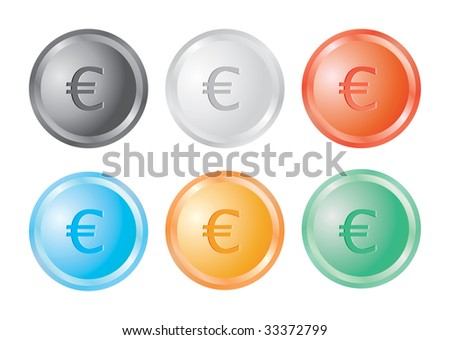 Button with a Euro sign