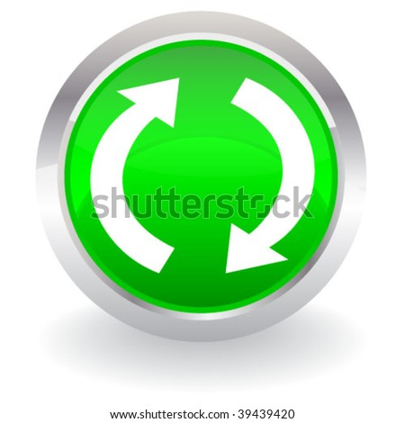 button with arrows - stock vector