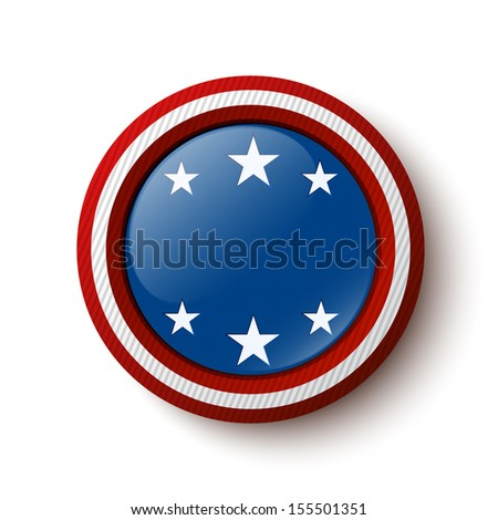 Button with stars and with place for your text. Vector illustration - stock vector