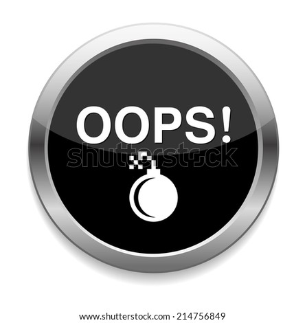 button with the word Oops - stock vector