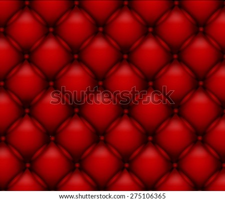 Buttoned on the red Texture - stock vector
