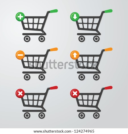 Buttons Carts - stock vector