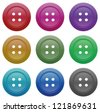 buttons for garments vector on a white background - stock photo