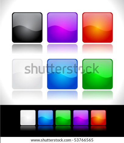 Buttons for web. - stock vector