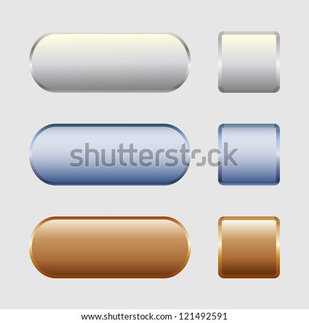 Buttons for web design - stock vector
