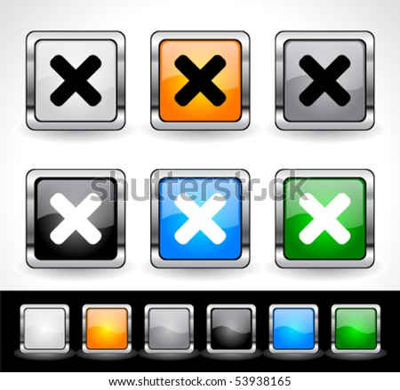 Buttons for web. Vector eps10.