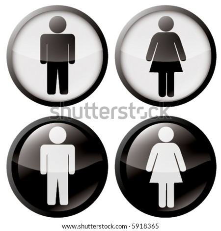 Buttons of Man and Woman symbol