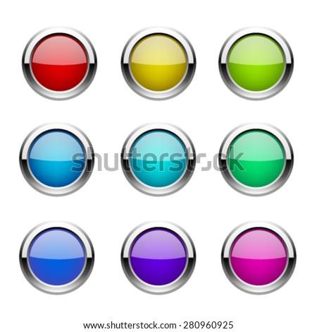 Buttons set. Vector - stock vector