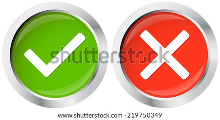 Buttons Top Flop - stock vector