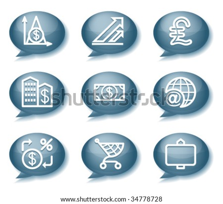 Buttons with icons 23 - stock vector