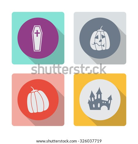 Buttons with shadow. Coffin vector icon. - stock vector