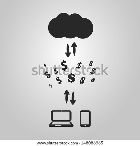 Buy and Sell Online - Graphic Design Concept - stock vector