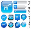 Buy blue design elements for website or app. Vector eps10. - stock photo