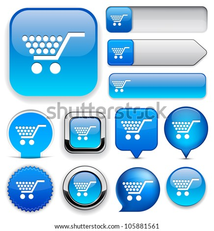 Buy blue design elements for website or app. Vector eps10. - stock vector