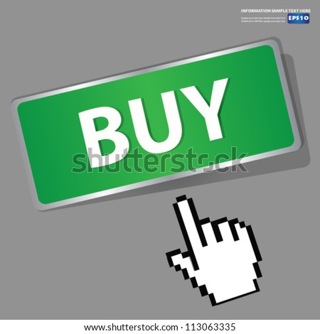 Buy button sign,Vector - stock vector
