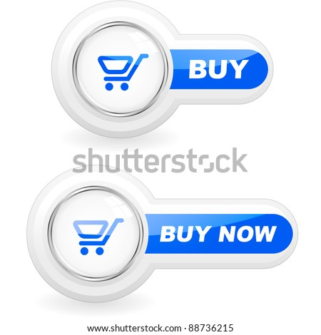 BUY NOW. Shopping cart for shop. Vector add button for online sale. - stock vector